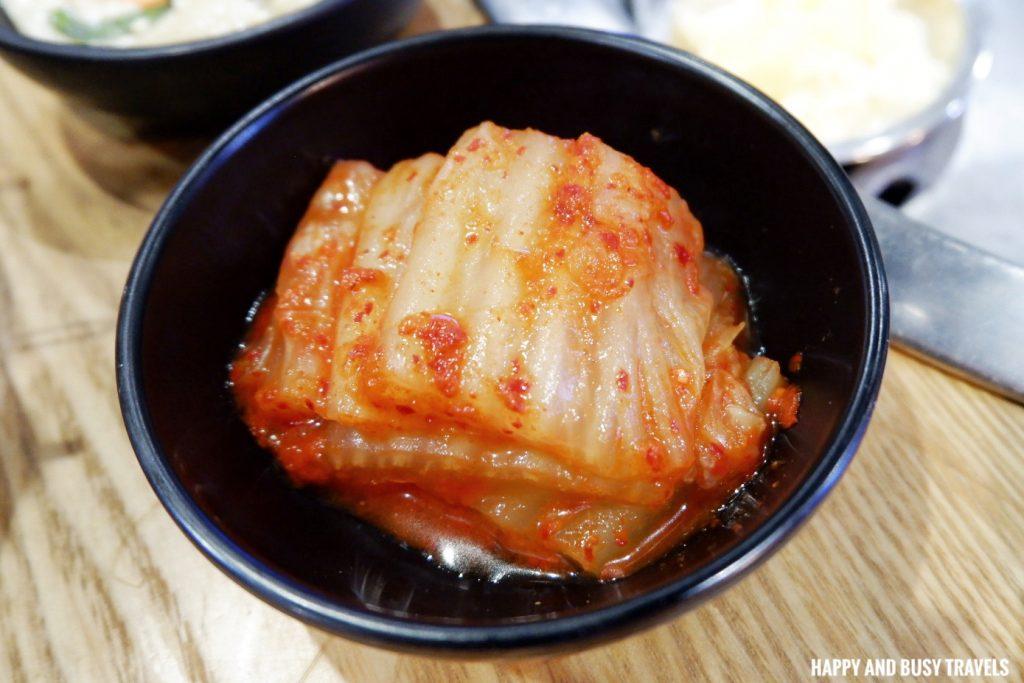 kimchi sides samgyupsal Jin Joo Korean Grill - Happy and Busy Travels