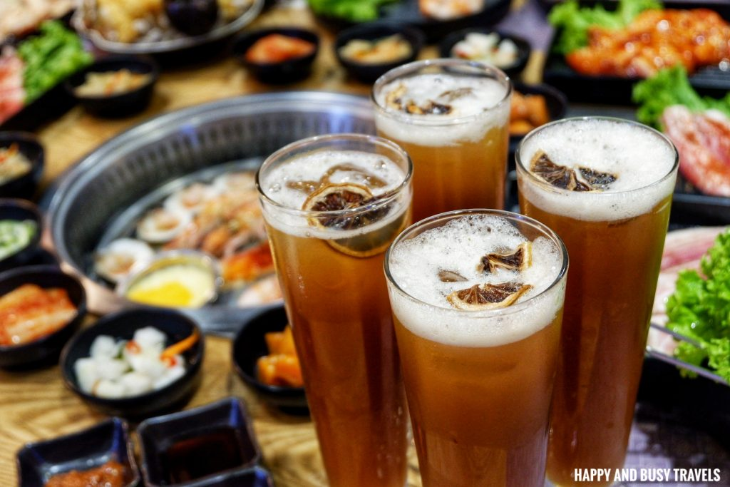 Iced Tea Jin Joo Korean Grill - Happy and Busy Travels