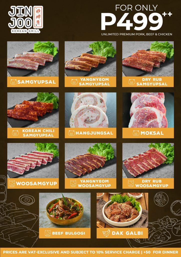 Unlimited samgyup menu Jin Joo Korean Grill - Happy and Busy Travels