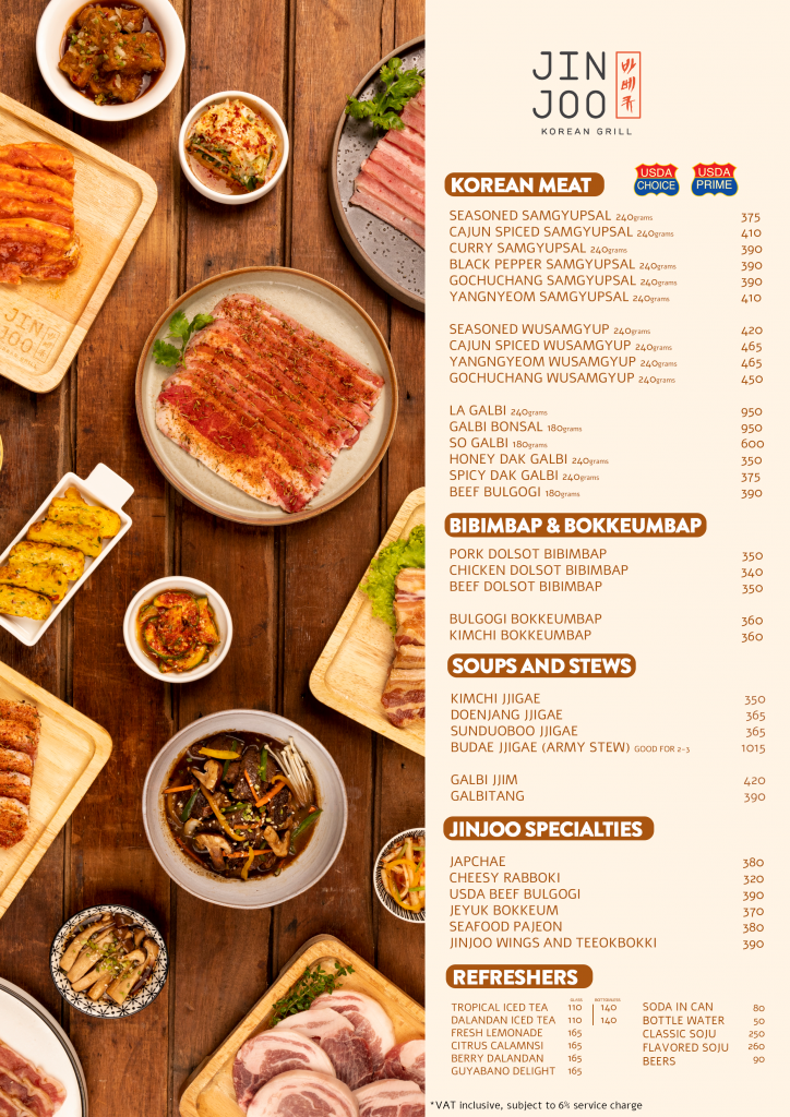 cooked food menu Jin Joo Korean Grill - Happy and Busy Travels