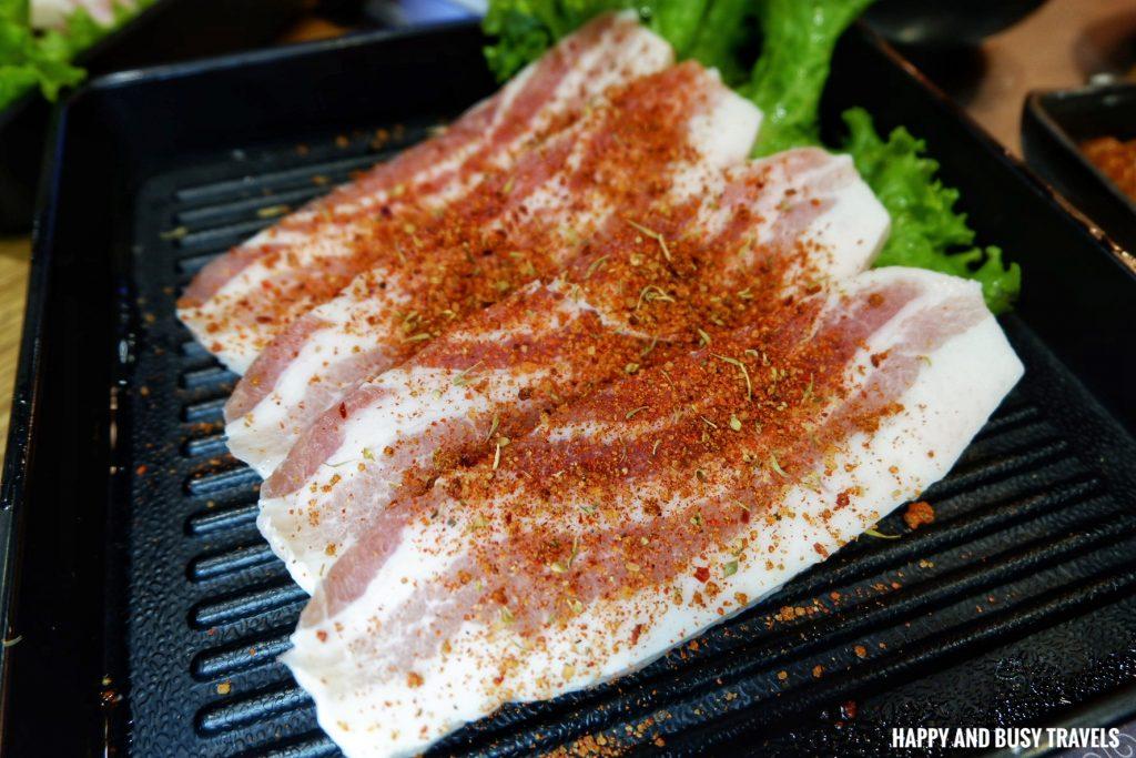 pork Dry rub samgyupsal Jin Joo Korean Grill - Happy and Busy Travels