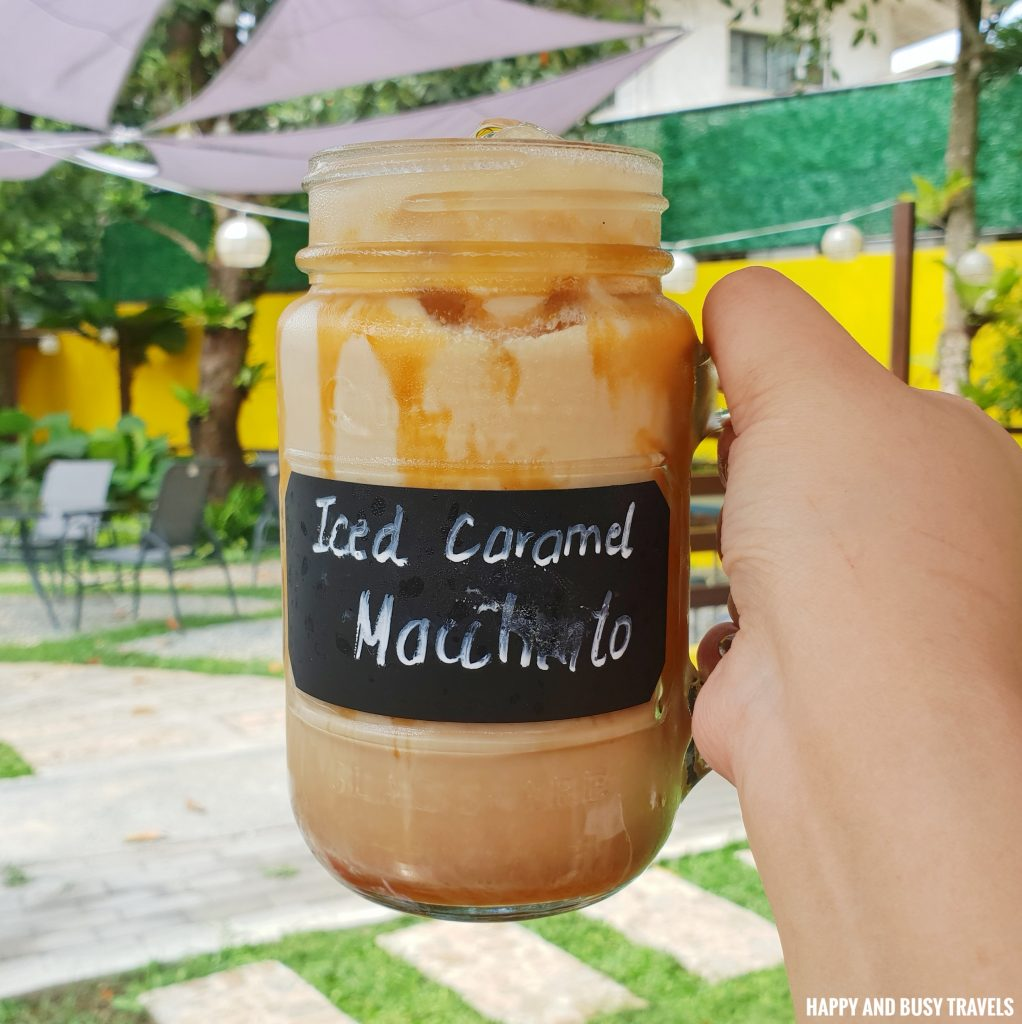 Iced Caramel MAchiato Marcus Cafe Villa Jovita - Happy and Busy Travels to Silang