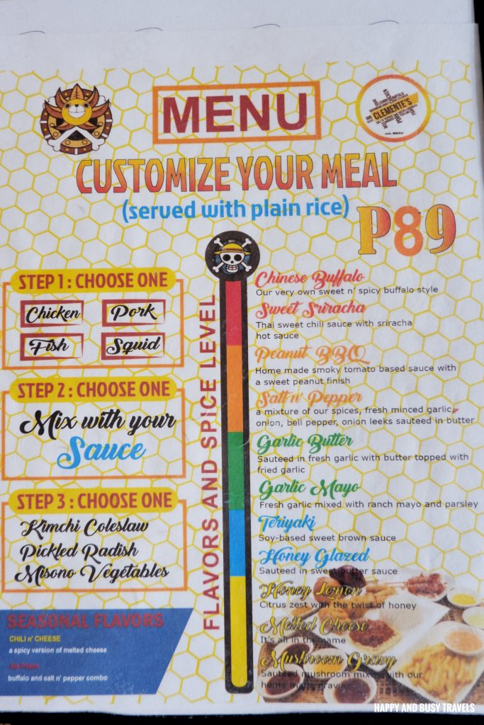 Menu Clementes Cuisine - Happy and Busy Travels Where to eat in Lipa Batangas