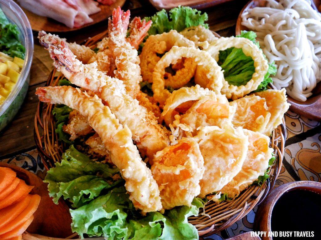 Tempura platter Gyup home of pan asian cuisine samgyup shabu shabu - Happy and Busy Travels to Dasmarinas Cavite