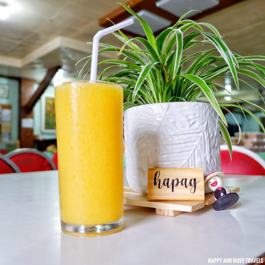 Yellow Mango Shake Hapag Filipino Restaurant - Happy and Busy Travels to Lipa Batangas