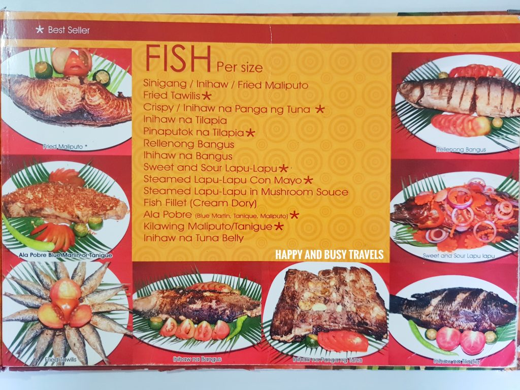 Fish MEnu Hapag Filipino Restaurant - Happy and Busy Travels to Lipa Batangas