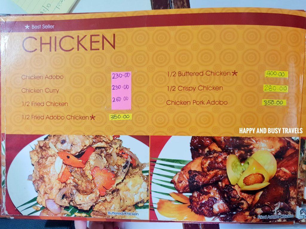 Chicken MEnu Hapag Filipino Restaurant - Happy and Busy Travels to Lipa Batangas
