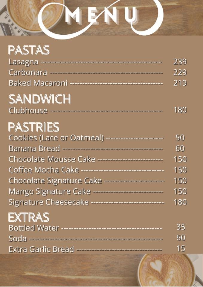 menu Coffee and Dreams Tagaytay - Happy and Busy Travels Where to eat in Tagaytay