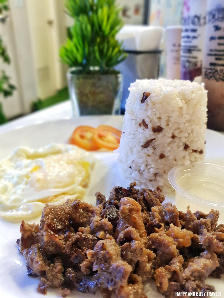 Tapa Rice Cofioca Coffee Miktea Frappe and wings - Happy and Busy Travels Where to eat in Tagaytay