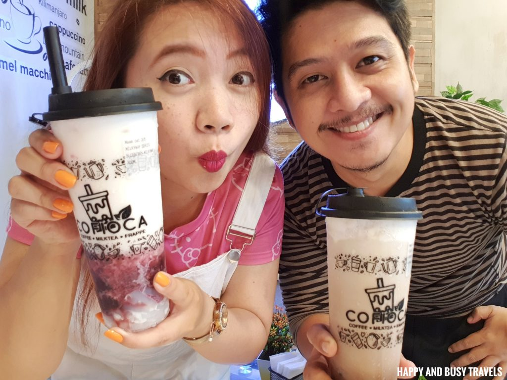 Cofioca Coffee Miktea Frappe and wings - Happy and Busy Travels Where to eat in Tagaytay