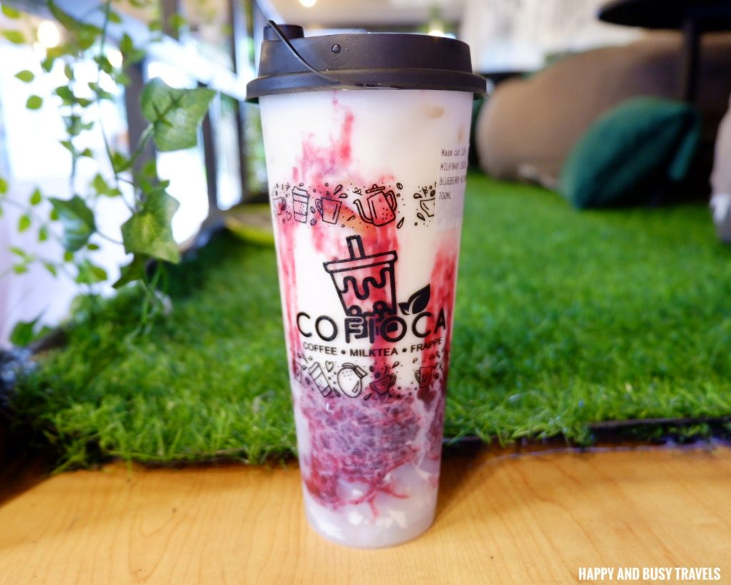Blueberry Milkway Cofioca Coffee Miktea Frappe and wings - Happy and Busy Travels Where to eat in Tagaytay