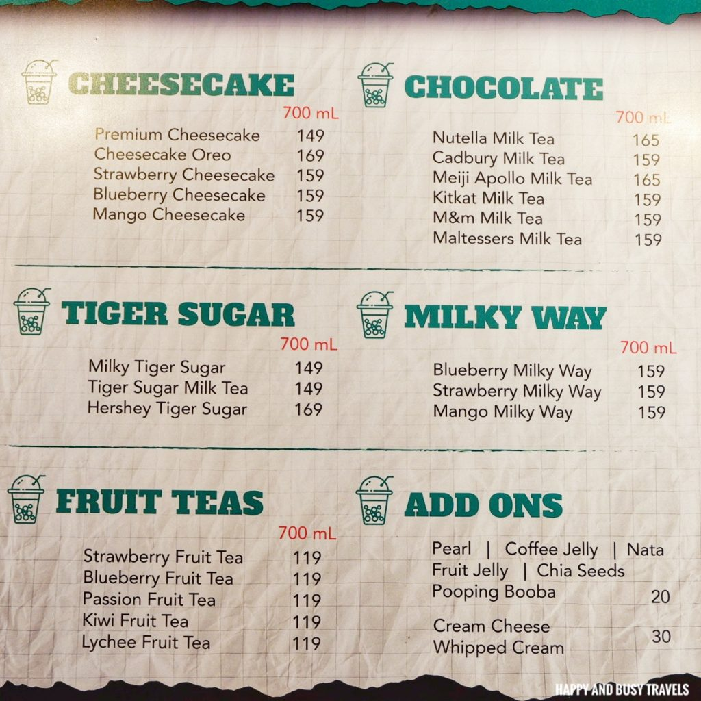 menu Cofioca Coffee Miktea Frappe and wings - Happy and Busy Travels Where to eat in Tagaytay