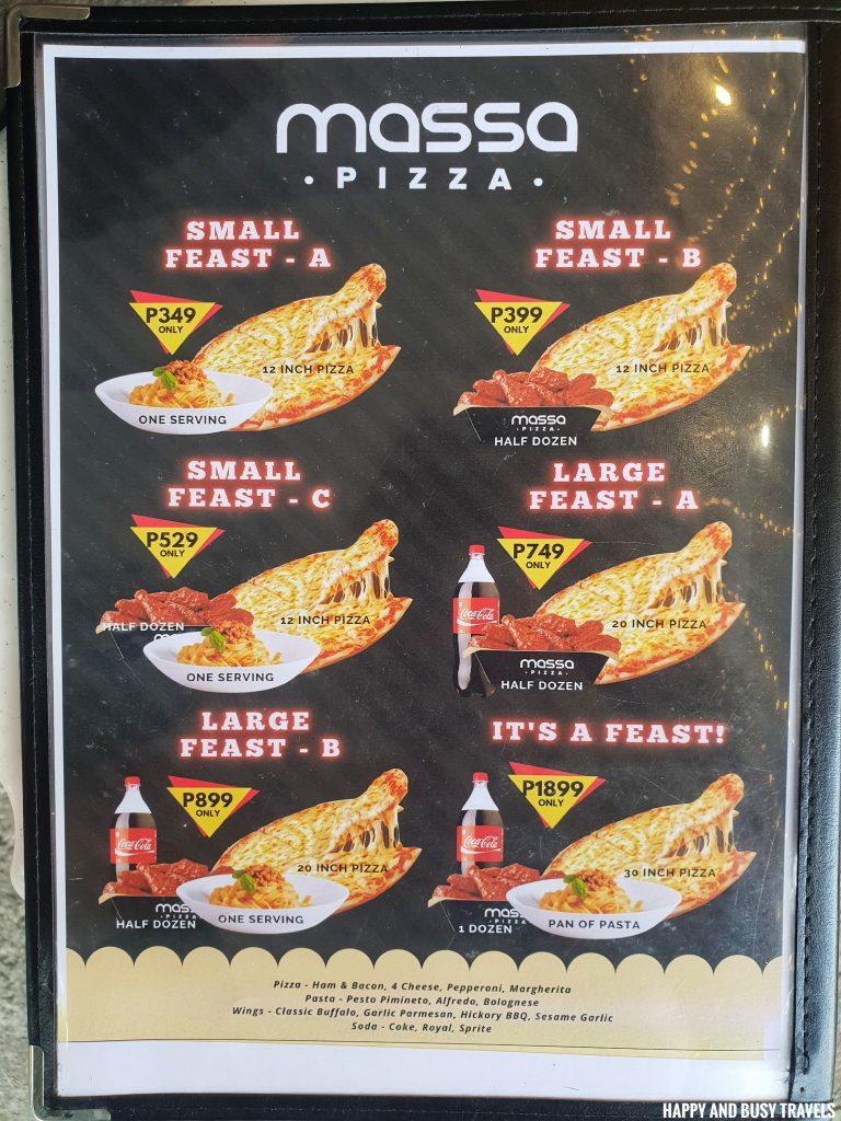 menu Massa Pizza Dasmarinas Cavite - Happy and Busy Travels where to eat in dasma cavite