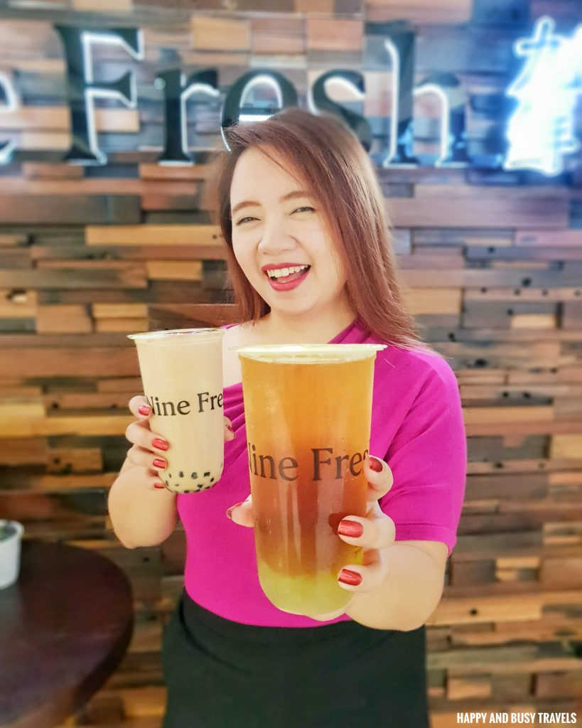 Milk tea Nine Fresh SM Southmall - Happy and Busy Travels
