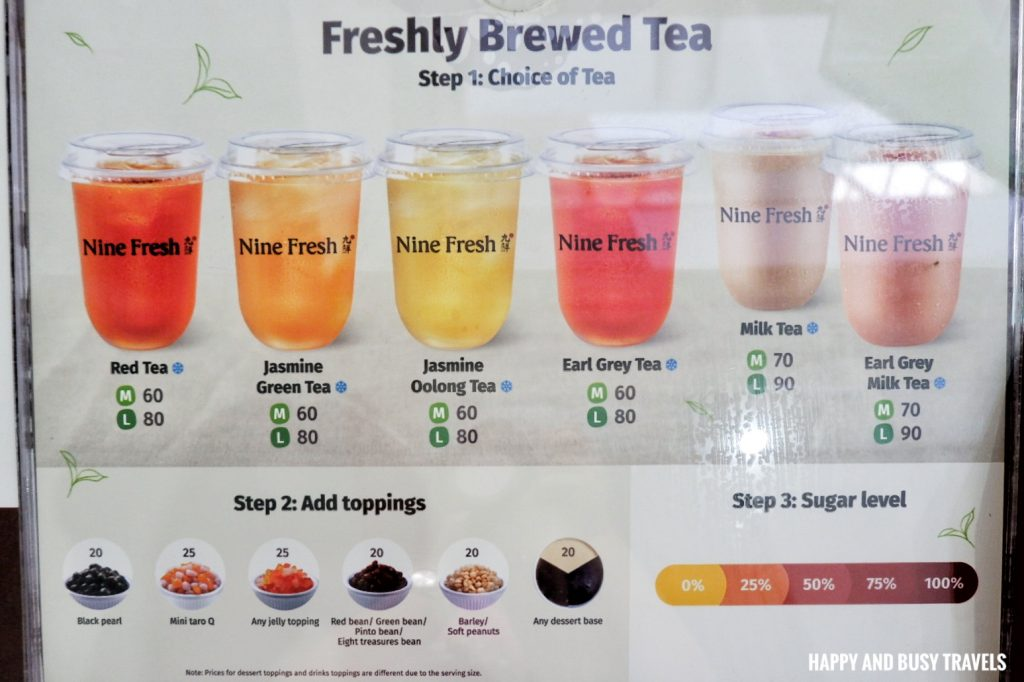 menu Nine Fresh SM Southmall - Happy and Busy Travels