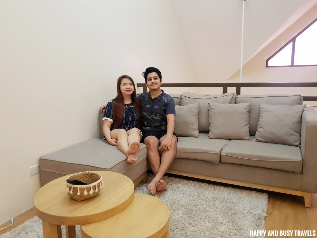 living area Rafanya Sanctuary - Happy and Busy Travels Where to stay in Tagaytay Condo Unit Wellington Courtyard