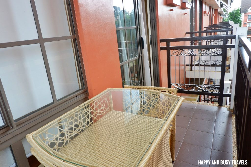 balcony Rafanya Sanctuary - Happy and Busy Travels Where to stay in Tagaytay Condo Unit Wellington Courtyard