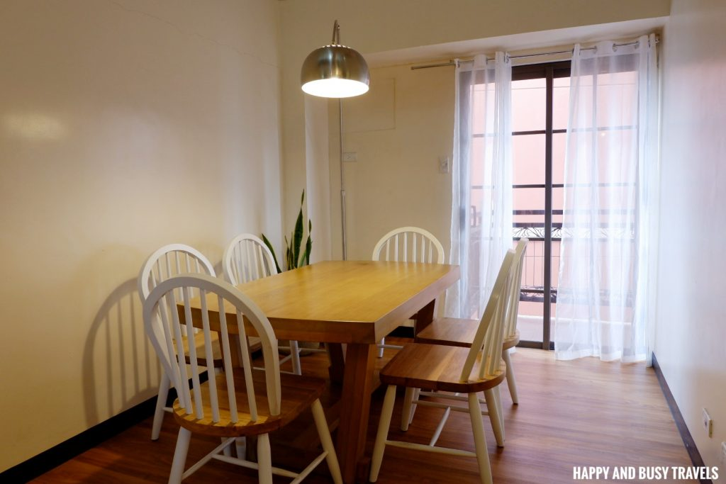 Dinning area Rafanya Sanctuary - Happy and Busy Travels Where to stay in Tagaytay Condo Unit Wellington Courtyard
