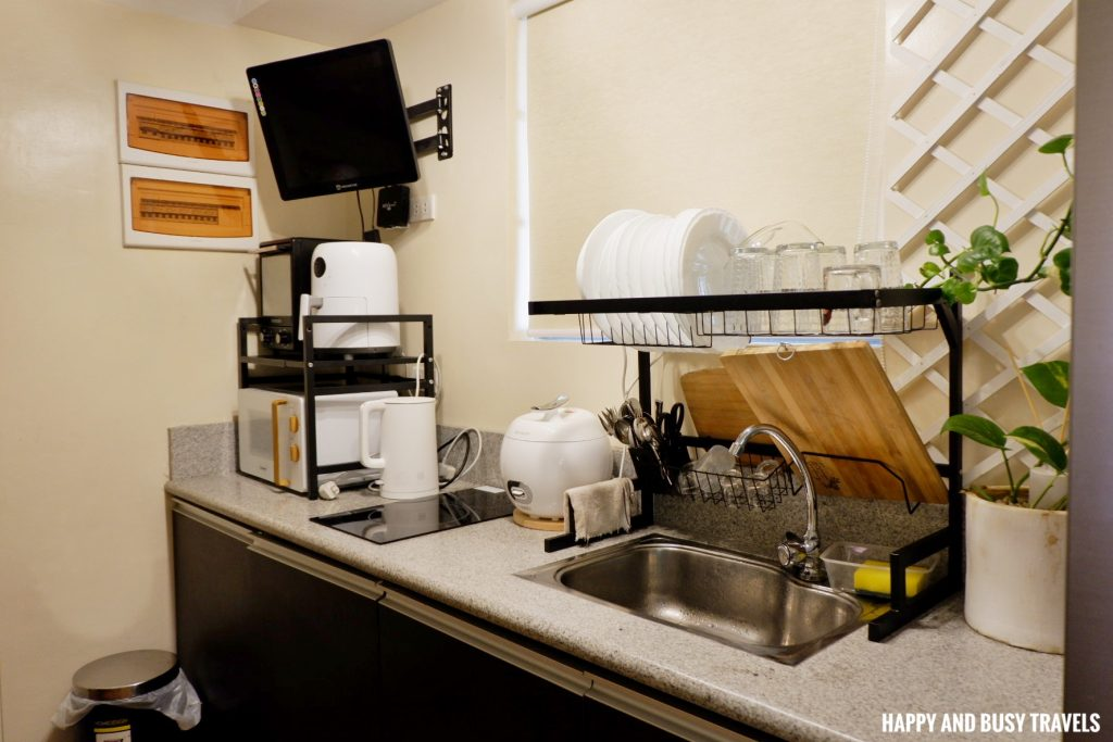 kitchen Rafanya Sanctuary - Happy and Busy Travels Where to stay in Tagaytay Condo Unit Wellington Courtyard